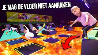DE VLOER IS LAVA IN LEEG TRAMPOLINEPARK!