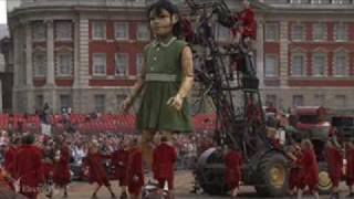 "The Little Girl Giant |Name of Music is ""Decollage"", by Les Balayeurs du Désert 