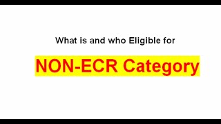 What is NoN-ECR Category? Who eligible for NoN ECR Category in Passport