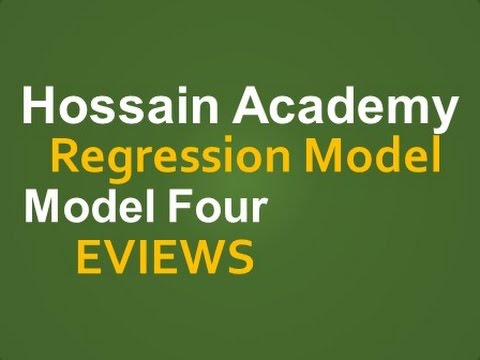 Regression Model. Model Four. EVIEWS