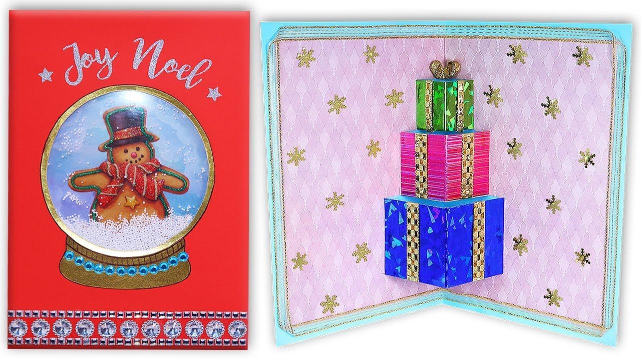 Diy tarjetas navide as en 3d originales f ciles y - Postales navidenas originales ...
