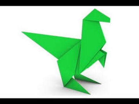 origami dinosaur how to make an easy origami disnosaur