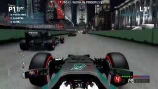 F1 2014 Gameplay - Awesome Singapore Race! (Lewis Hamilton, Singapore Gameplay)
