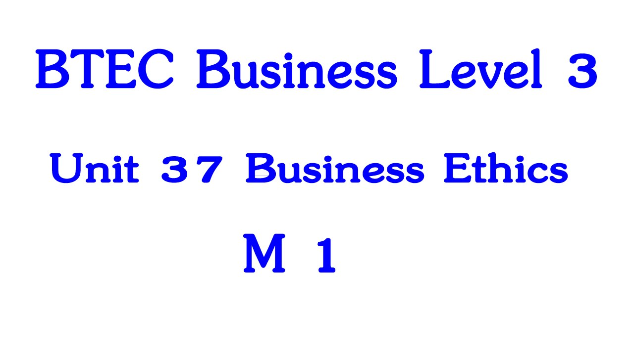 btec business level 3 unit 4 m1 Btec level 3 business unit 3 m1 and d1 in this task, i will be comparing the marketing techniques used in marketing products the two organizations that i.