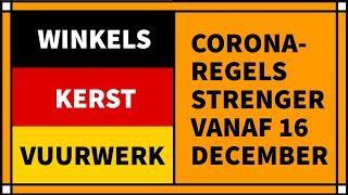 Winkels, kerst, vuurwerk: Corona-maatregelen in Duitsland vanaf 16 december 2020
