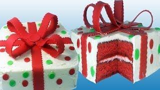Red Velvet Christmas Present Cake - How To