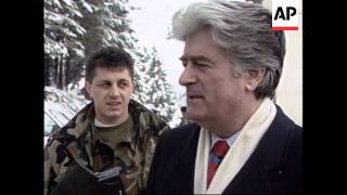 BOSNIA: ITALIAN PEACEKEEPERS CONFRONTATION WITH RADOVAN KARADZIC