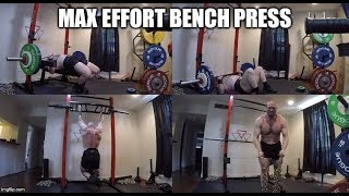 9-10-2019 Jason Blaha Training -  Max Effort Bench Press Day