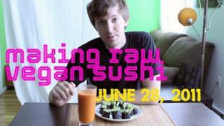 Raw Vegan Sushi / Nori Rolls Inspired By Therawdiaries