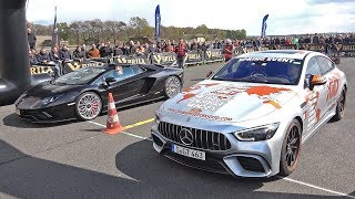 Mercedes AMG GT 63 S 4MATIC+ 4 Door Coupe vs Lamborghini Aventador S Roadster