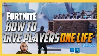 How to give players only 1 life in Fortnite Creative mini games!