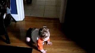 Gavin crawling (scooting)