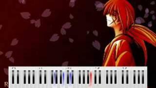 Rurouni Kenshin - Departure piano tutorial (part 1)