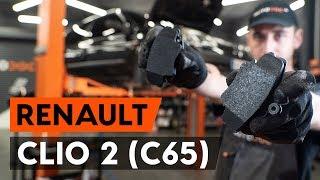 Stabdžių Kaladėlės keitimas RENAULT CLIO II (BB0/1/2_, CB0/1/2_) - vadovas