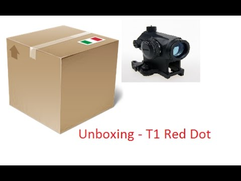 AirSoft Unboxing #2 - T1 Red Dot (Titano Store) GoPro Hero 4