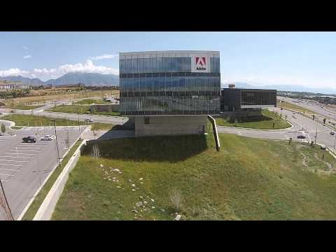 Adobe's Lehi, UT Offices view from a drone