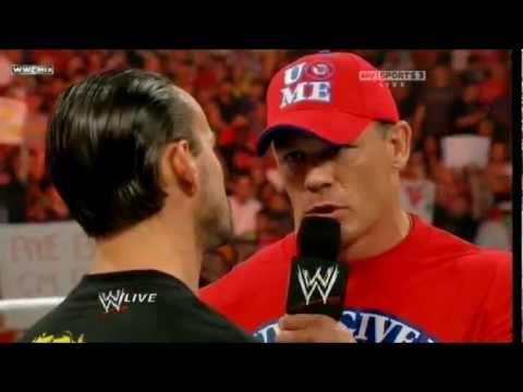 John Cena Confronts CM Punk