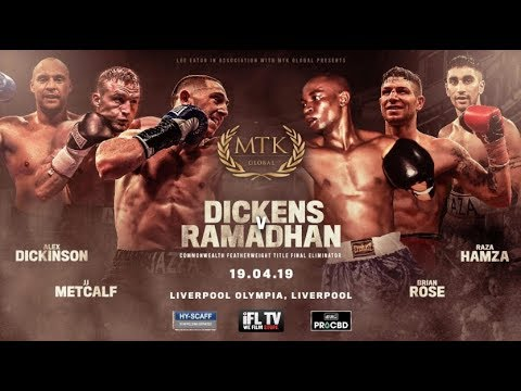 LIVE BOXING! - MTK GLOBAL PRESENTS ... 'FIGHT NIGHT LIVERPOOL' (DICKENS V RAMADHAN  - & UNDERCARD