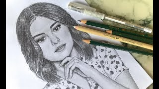 Speed Drawing / How to draw Selena Gomez | Lily Fee