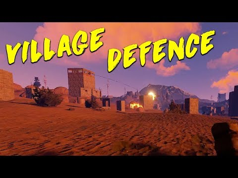 Defending The Village From A MASSIVE Clan! - Rust
