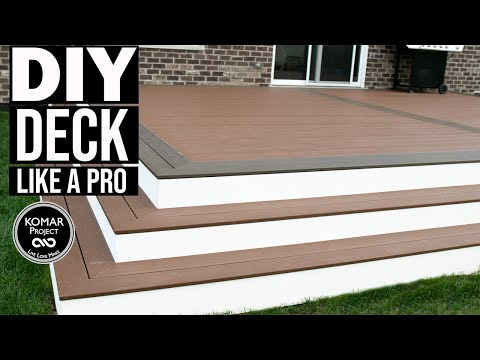 How To Build A Deck!! Layout, Framing, and Composite Decking Guide ||| DIY Deck Build