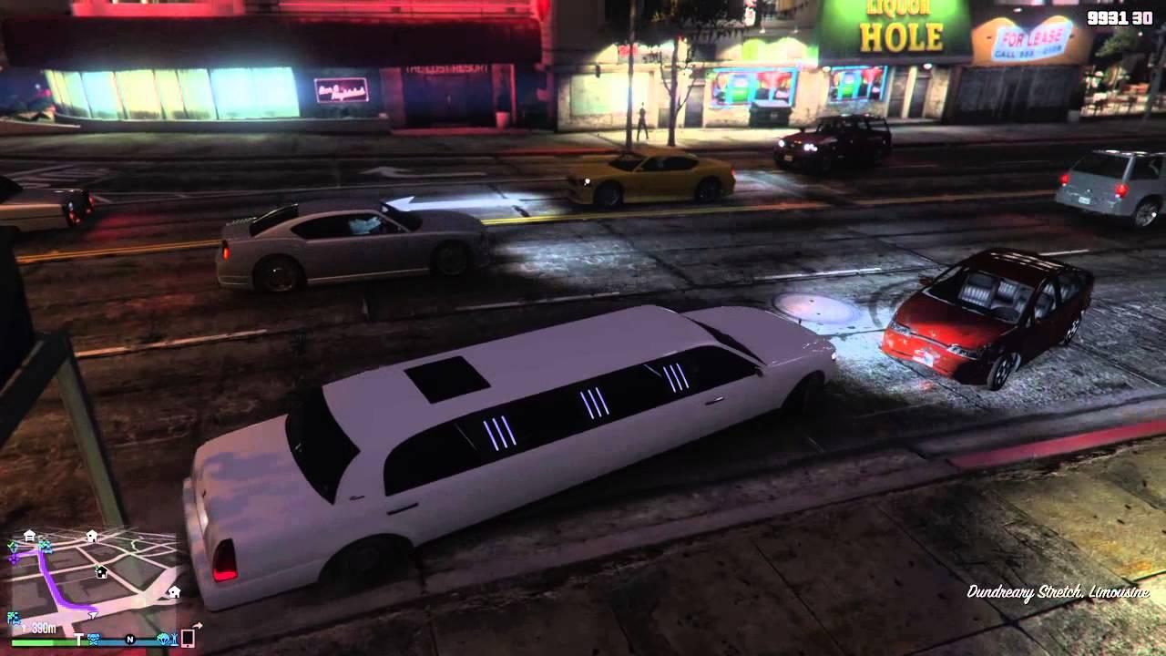 gta 5 limousine finden