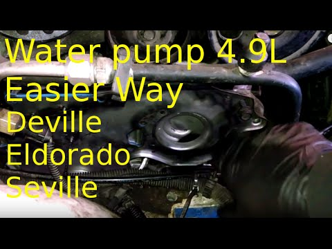 Water Pump Replacement 1993 Cadillac Deville 4 9l How To