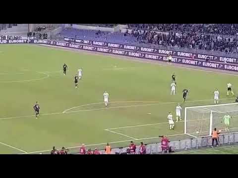 Lazio Napoli 1-4 Goal di Mertens visto dalla curva