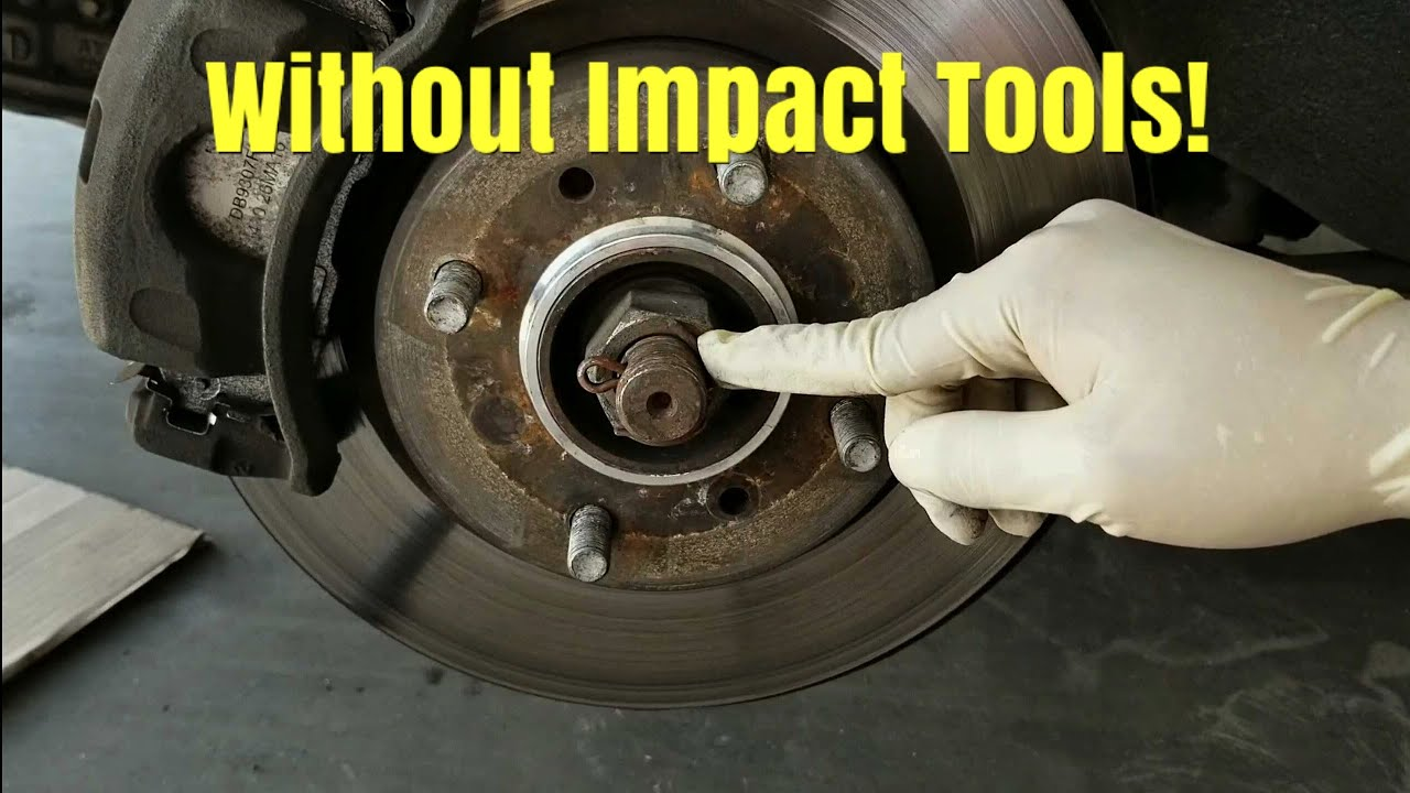 A Fast And Easy Way To Remove A Cv Axle Nut Without Impact tools!