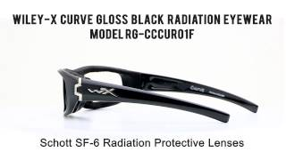 13d66812cf Phillips Safety Radiation WileyX Curve Gloss Black ...
