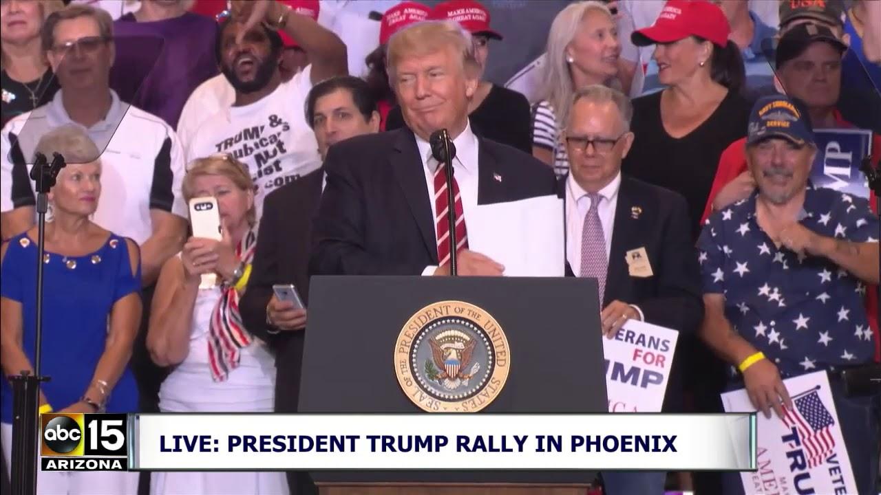 *CNN SUCKS CHANTS!* President Trump speaks at Phoenix Rally