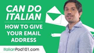 NEW Can Do - How to Give Your Email Address in Italian