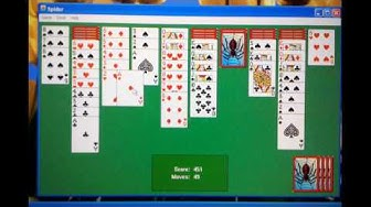 How to play spider solitaire (difficult-four suits)