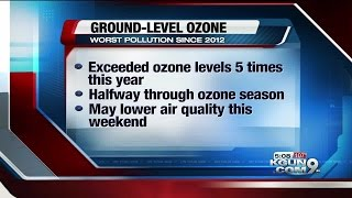 Tucson is seeing its worst ozone pollution since 2012. The ozone po...