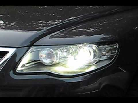 afs hid cornering headlight demonstration on a vw touareg tdi youtube