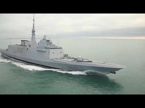 DCNS - FREMM Normandie Multi-Mission Stealth Frigate Sea Trials [720p]