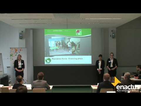 Enactus-Team der Ruhr-Universität Bochum am Regional-Cup Nord 2014