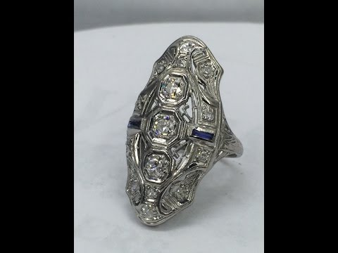 Antique platinum and Diamond ring.
