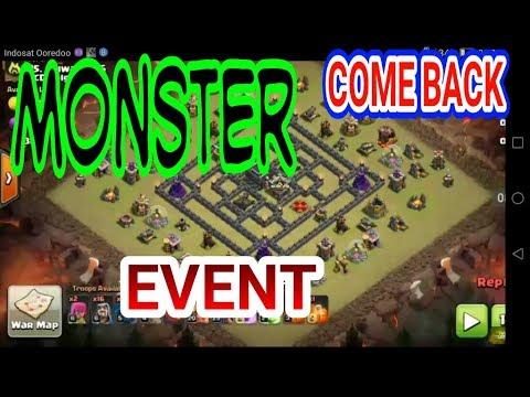 Selalu ada Yang Keren MONSTER vs TH 9 COME BACK EVENT TH 9 Clash Of Clans