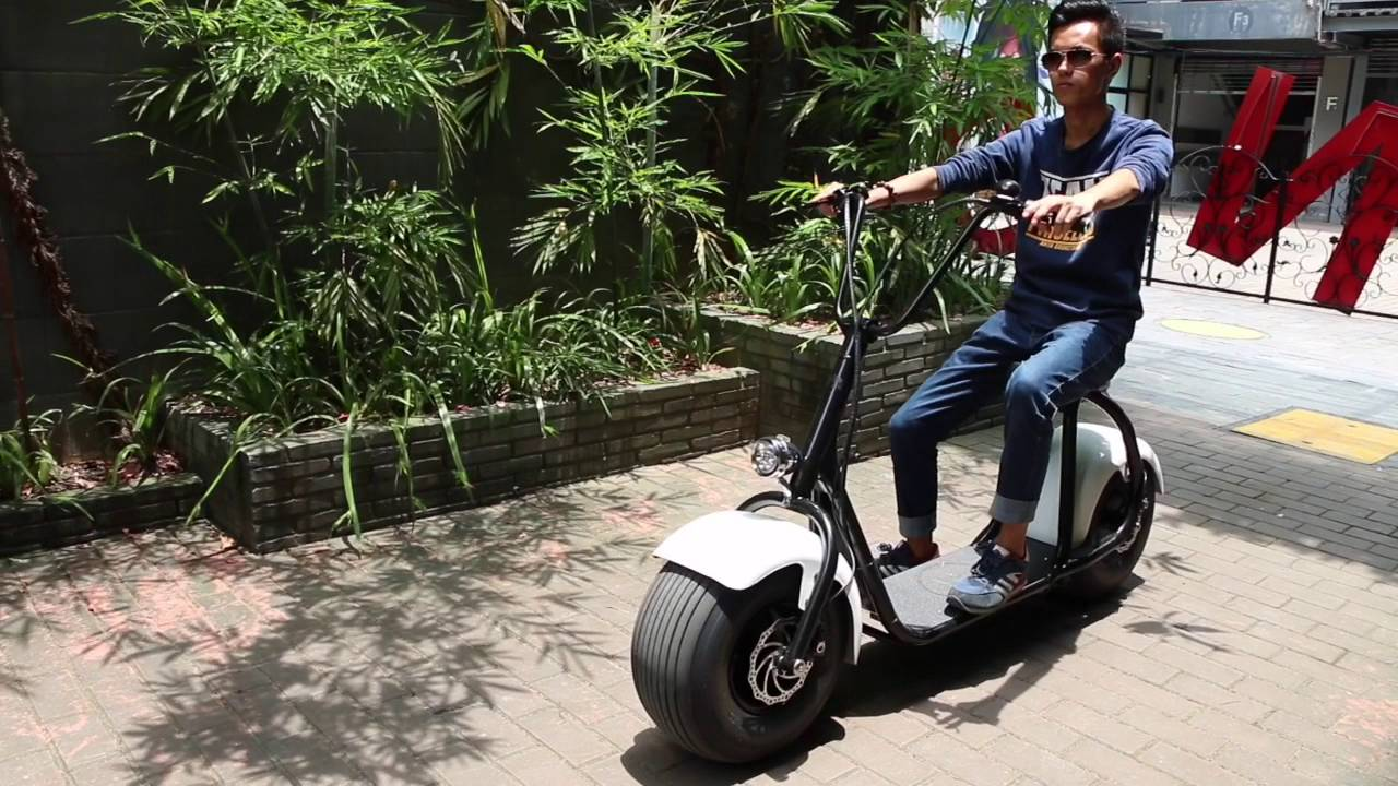 onebot scooter fashion harley standing scooter youtube. Black Bedroom Furniture Sets. Home Design Ideas