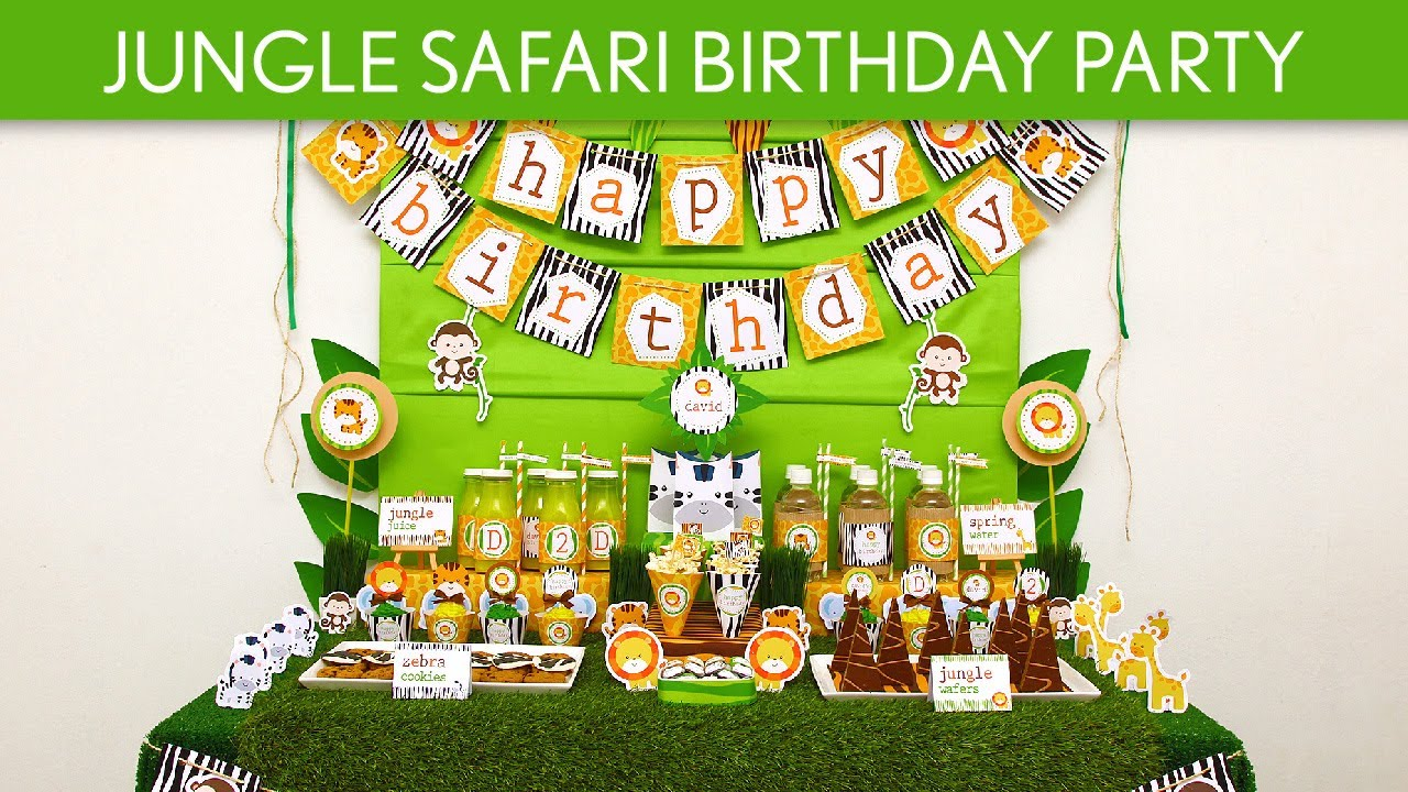 Jungle Safari Birthday Party Ideas Jungle Safari B90 YouTube