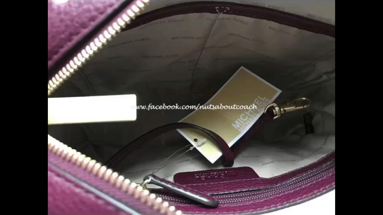 546f51fd04f4 MICHAEL Michael Kors Brooklyn Large Camera Bag-PLUM - YouTube