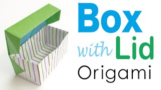 DIY Origami Paper Gift Box With Lid - Origami Kawaii〔#085〕