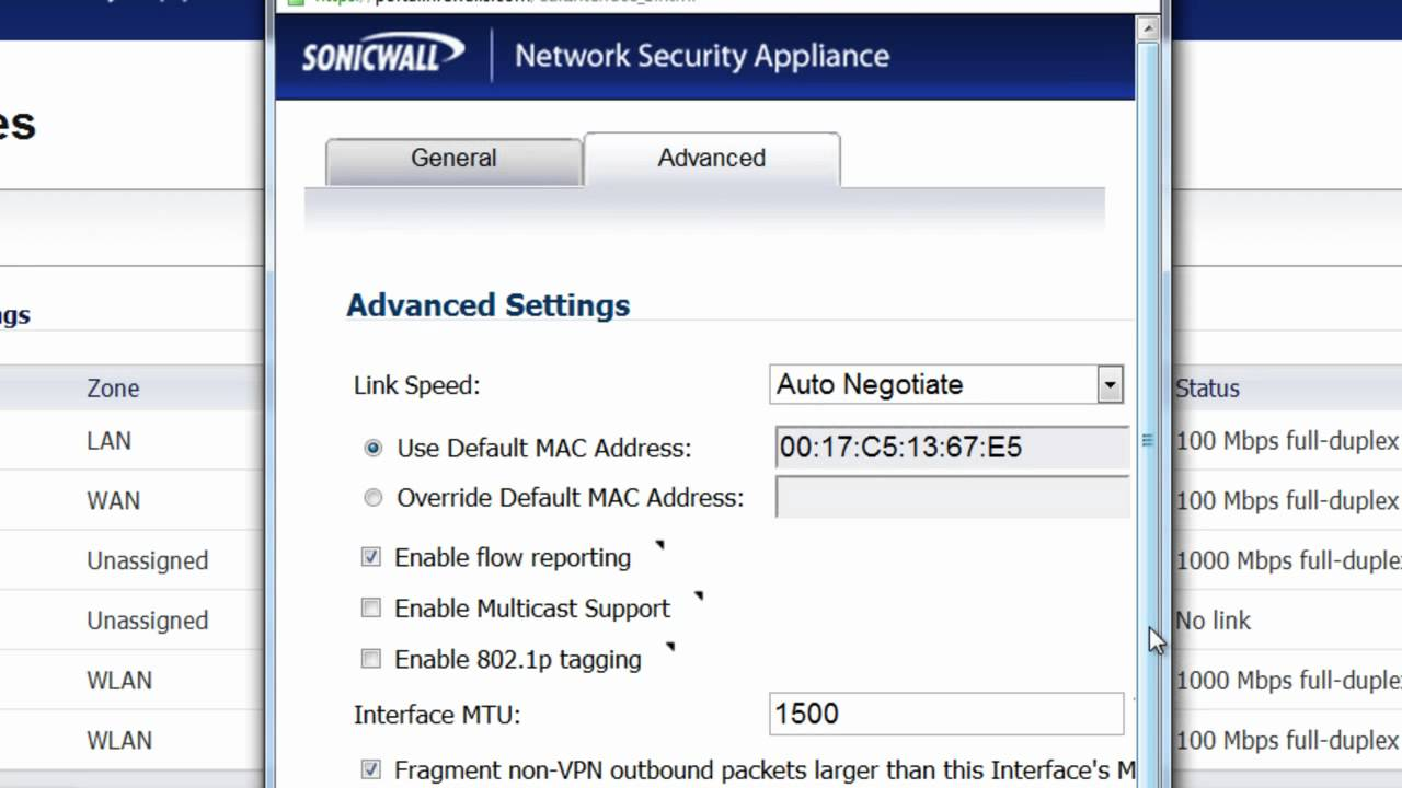 Sonicwall speed up vpn
