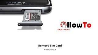HowTo -  Remove Note 8 SIM