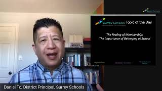 Don't Just Survive... Thrive! With Dr. Daniel To: The Importance of Belonging in Schools