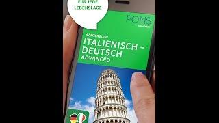 PONS Translator App Wörterbuch Advanced Italienisch Deutsch