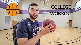 BEST BASKETBALL WORKOUT FROM A COLLEGE PLAYER?!?!