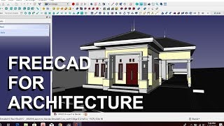 make a house in freecad : tutorial part 4. roof modeling
