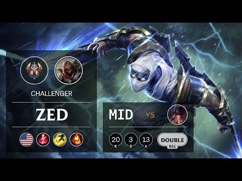 Zed Mid Vs Akali - NA Challenger Patch 9.13